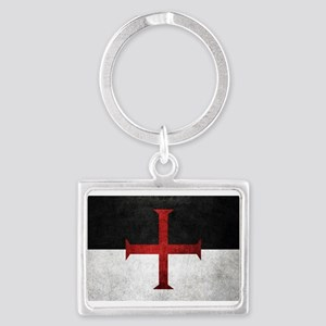 Flag of the Knights Templar Keychains